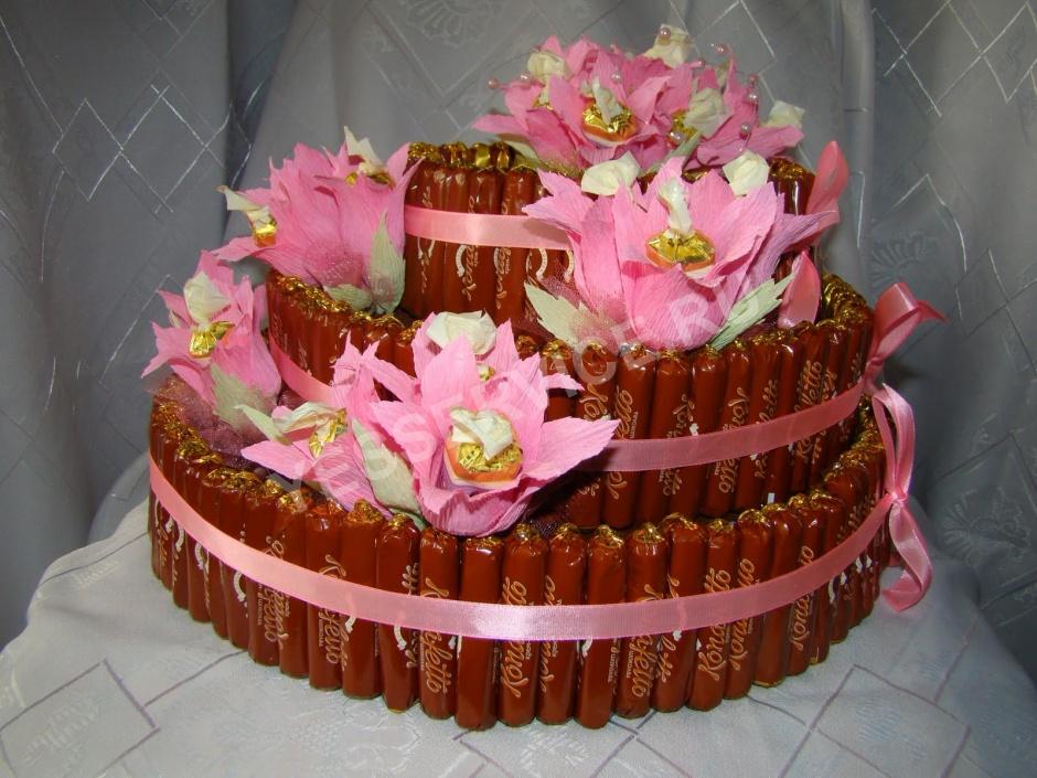 Простые торты из конфет своими руками для начинающих